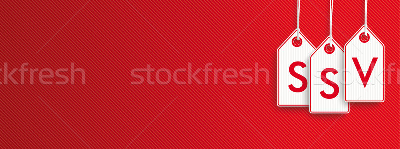 Hanging Price Stickers SSV Header Stock photo © limbi007