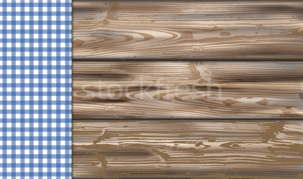 Table With Blue Checked Table Cloth Stock photo © limbi007