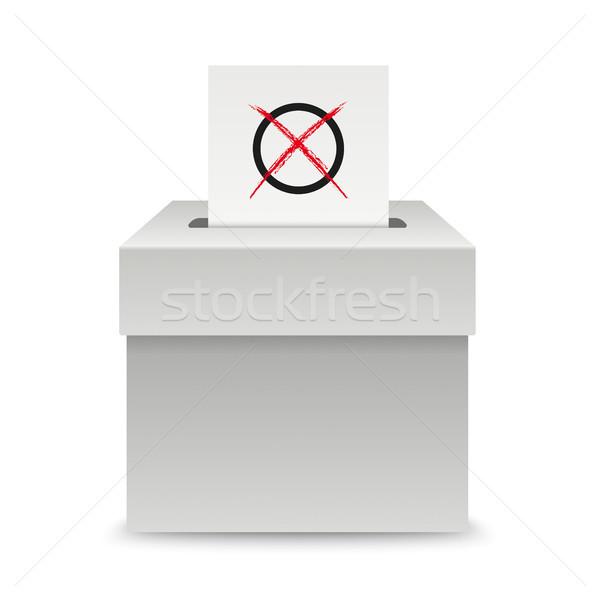голосование окна бумаги белый прибыль на акцию 10 Сток-фото © limbi007