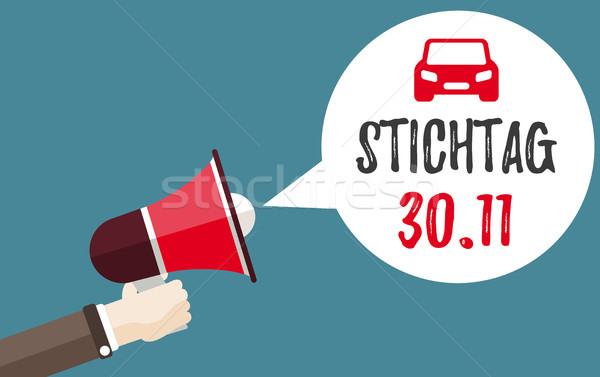 Kéz 30 autó szöveg határidő eps Stock fotó © limbi007