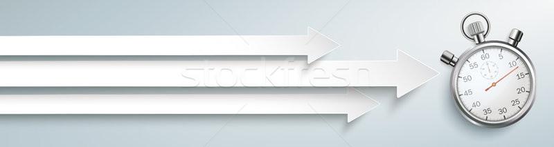Flechas cronógrafo blanco gris eps Foto stock © limbi007