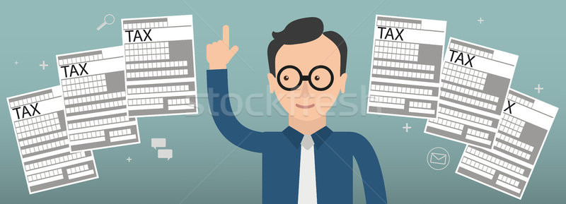 Biznesmen napomknąć podatku tekst eps 10 Zdjęcia stock © limbi007