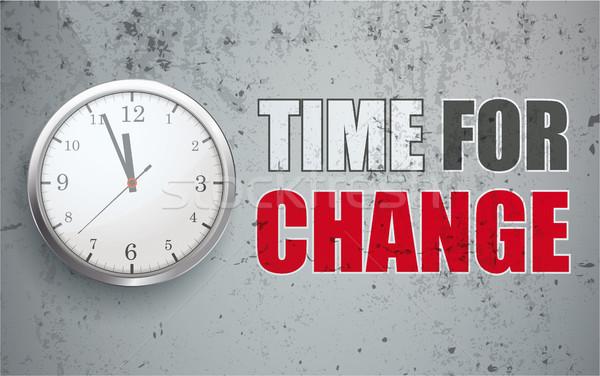 Concrete Time To Change Stock photo © limbi007