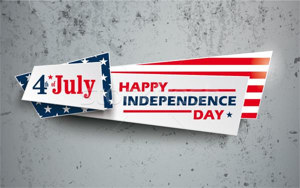 Concrete US Flag Independence Day Stock photo © limbi007