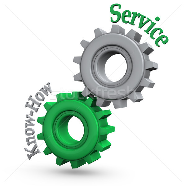 Gears Service Know-How Stock photo © limbi007