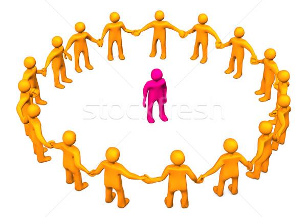 Integratie oranje cirkel roze Stockfoto © limbi007