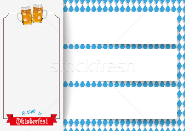 Oktoberfest 3 Banners Beer Ribbon Stock photo © limbi007