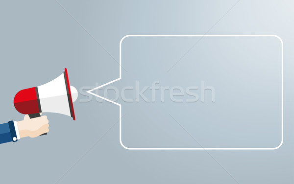 Hand Bullhorn Copyspace Speech Bubble Stock photo © limbi007