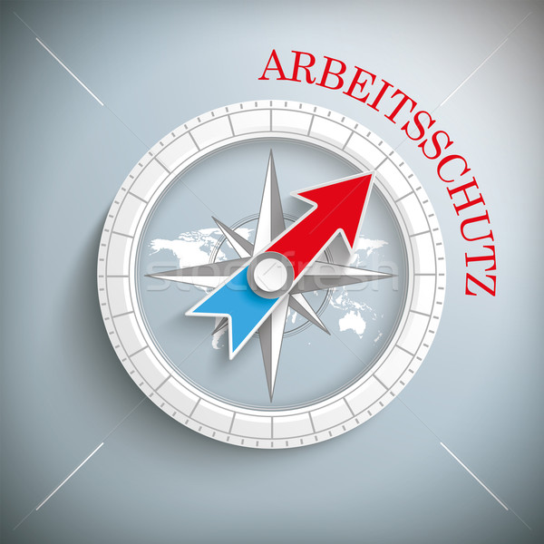 Compass Arbeitsschutz Stock photo © limbi007