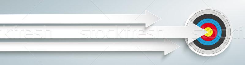 Cible tête blanche gris eps Photo stock © limbi007