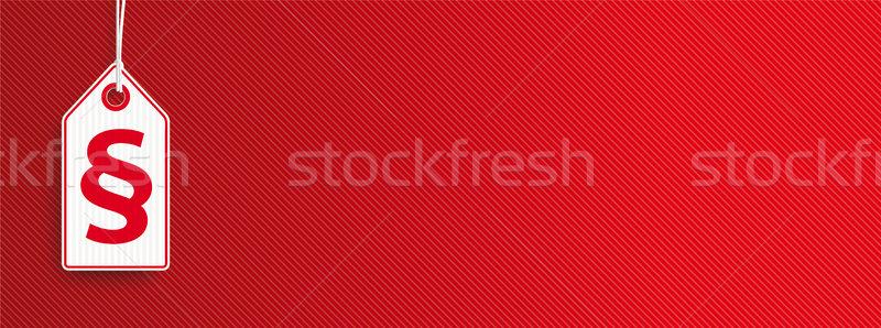 Hängen Preis Aufkleber Absatz Aufkleber rot Stock foto © limbi007