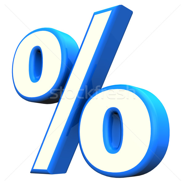 Blue Percent Symbol Stock photo © limbi007