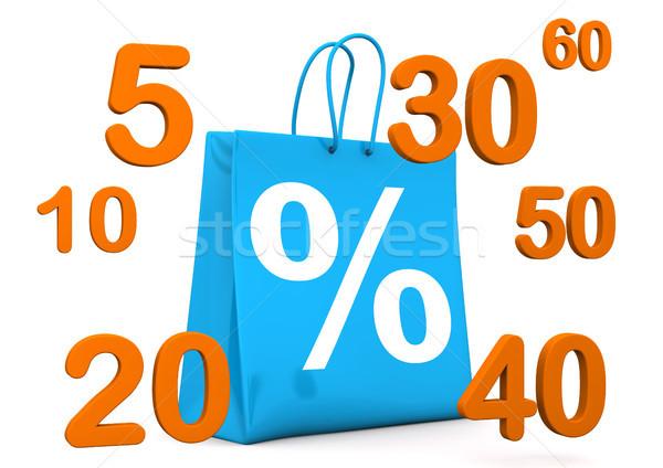 Shopping Bag Percent Numbers Stock photo © limbi007