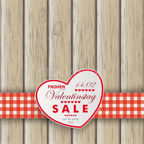 Heart Table Heart Valentinstag Wooden Background Stock photo © limbi007