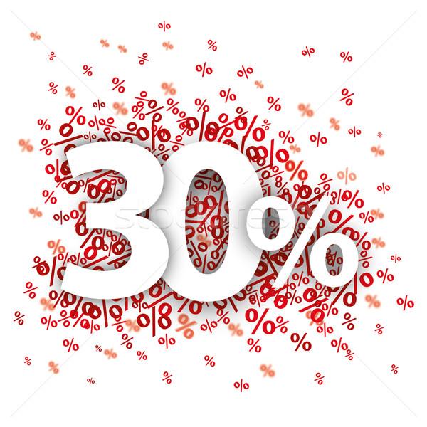 Stock fotó: 30 · piros · fehér · eps · 10 · vektor