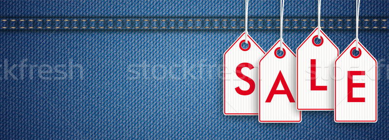 Stock photo: Jeans Header Price Stickers Sale