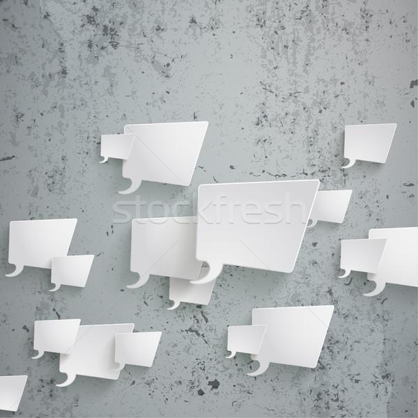 Branco retângulo concreto eps 10 Foto stock © limbi007