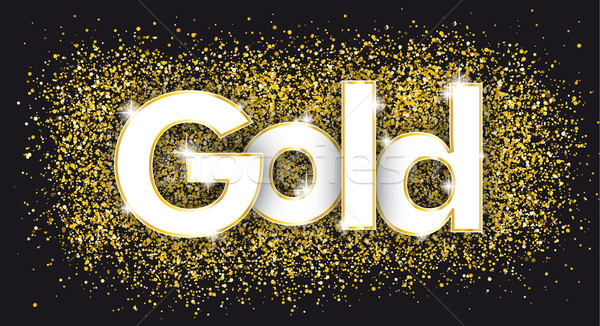 Gold Golden Confetti Black Stock photo © limbi007