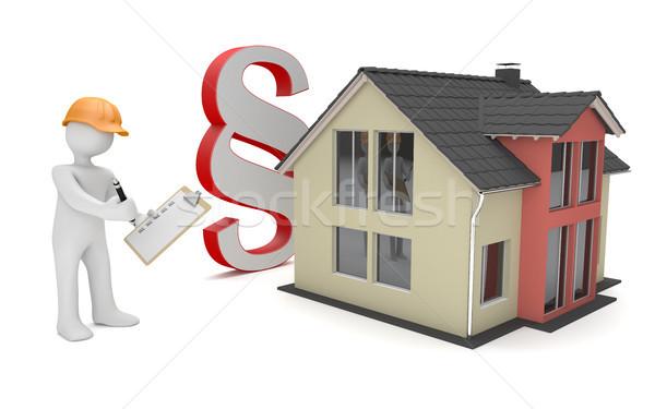 Manikin House Paragraph Checklist Stock photo © limbi007