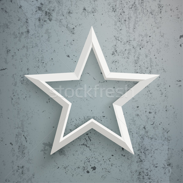 White Star Concrete Stock photo © limbi007