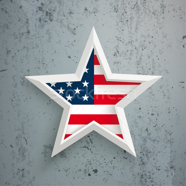 Star US Flag Concrete Stock photo © limbi007