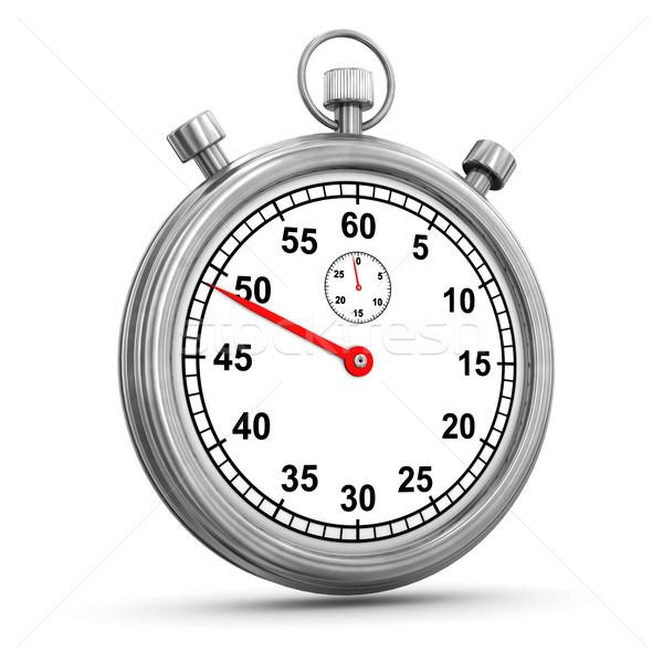 Chronomètre chronomètre blanche horloge sport Ouvrir la Photo stock © limbi007