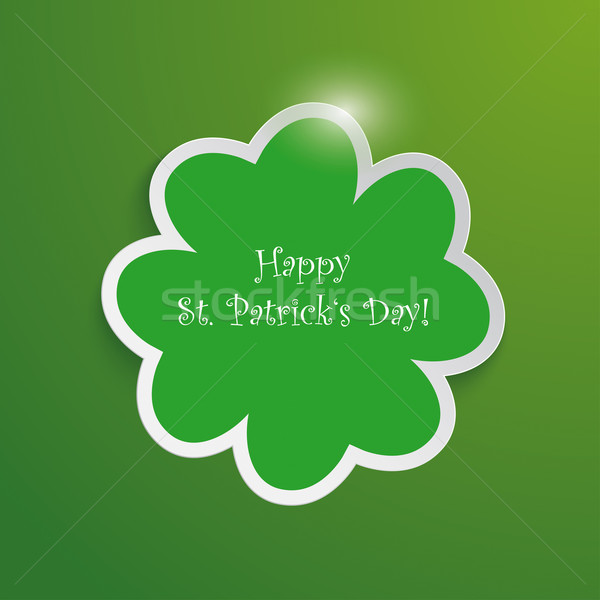 Green Shamrock Good St Patricks Day Background Stock photo © limbi007