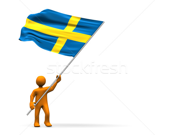 Stock photo: Sweden Fan