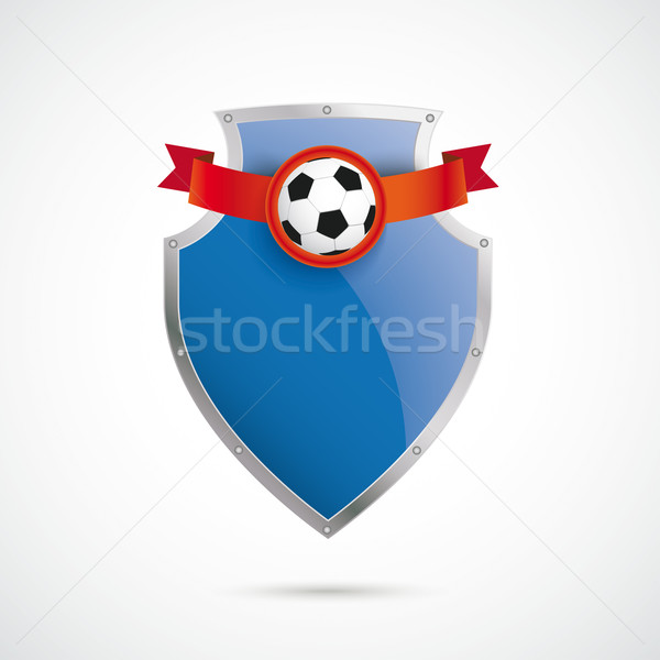 Blue Silver Protection Shield Football Stock photo © limbi007
