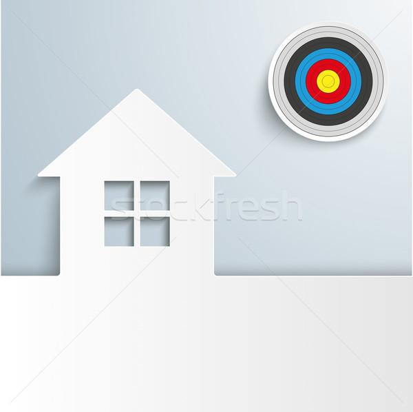 House Cover Target Sun Stock photo © limbi007