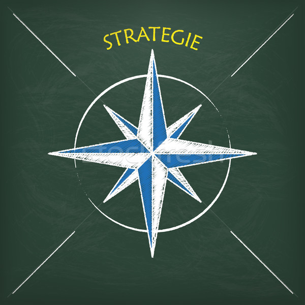 Blackboard kompas tekst strategie eps 10 Stockfoto © limbi007