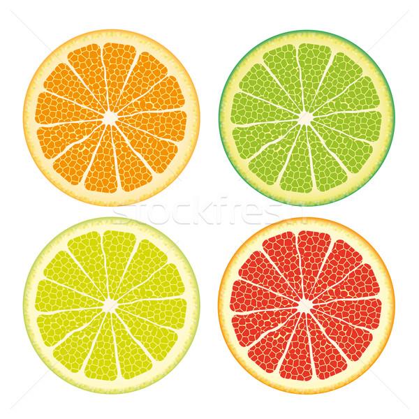Kinds Of Citrus Fruits Stock photo © limbi007