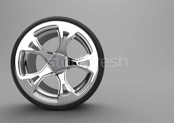 Tire With Alloy Wheel Stock photo © limbi007