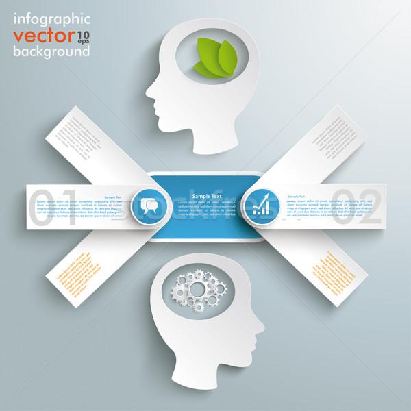 Pijl banners eco industrie ontwerp Stockfoto © limbi007