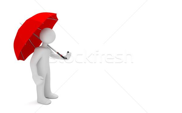 Manikin Red Umbrella Stock photo © limbi007