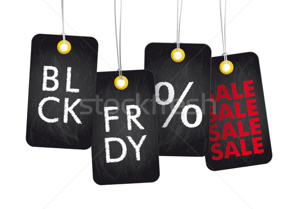 4 Blackboard Price Stickers BLC FRDY Sale Stock photo © limbi007
