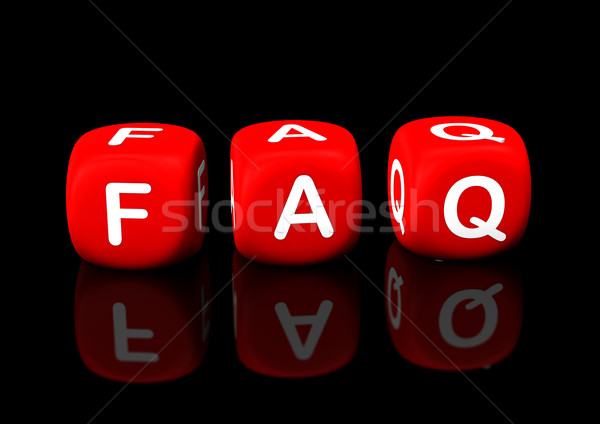 Faq Rood tekst zwarte business Stockfoto © limbi007