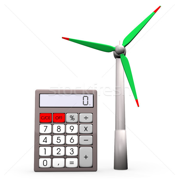 Calculator Wind Turbine Stock photo © limbi007