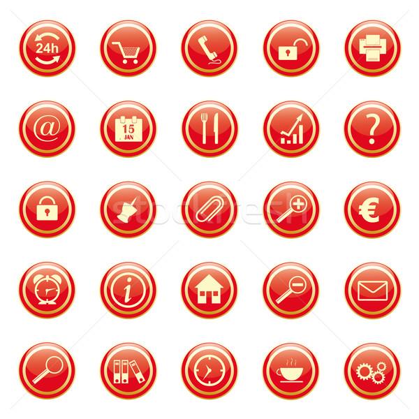 Negócio botões casa telefone relógio casa Foto stock © limbi007