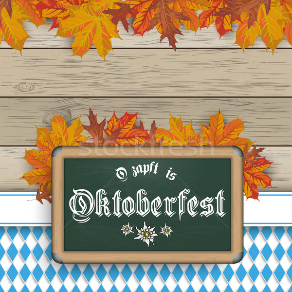 Bavarian Oktoberfest Blackboard Foliage Stock photo © limbi007