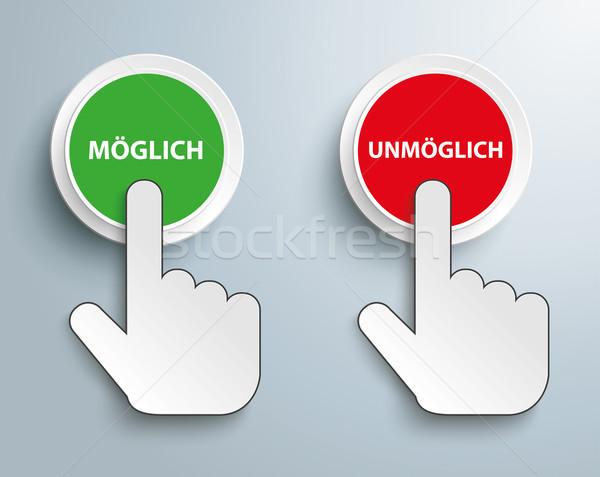 Klicken Hand Taste Text möglich Stock foto © limbi007