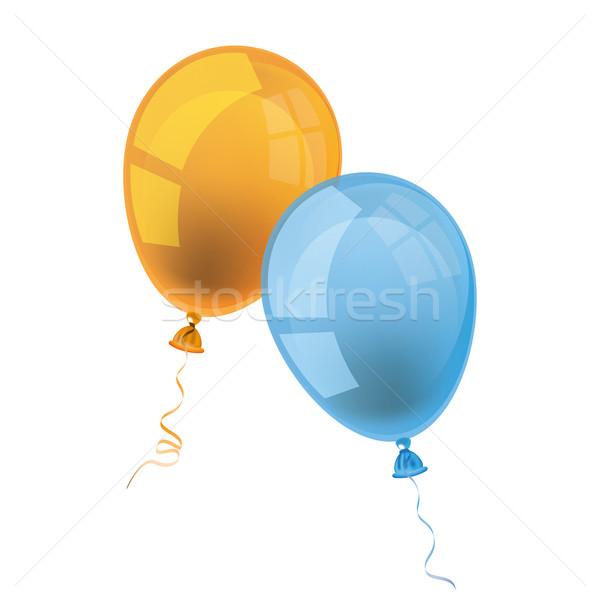 Blackboard Balloons Back to School Stock photo © limbi007