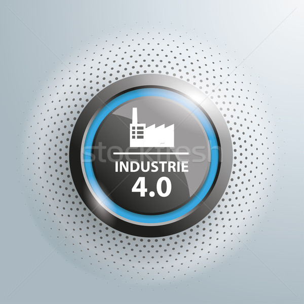 Button Industrie 4.0 Halftone Stock photo © limbi007