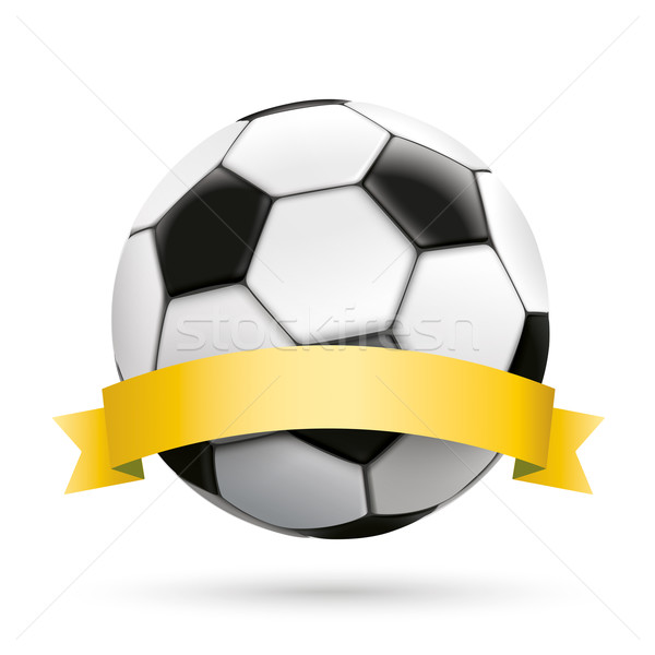 Football Golden Ribbon White Background Stock photo © limbi007