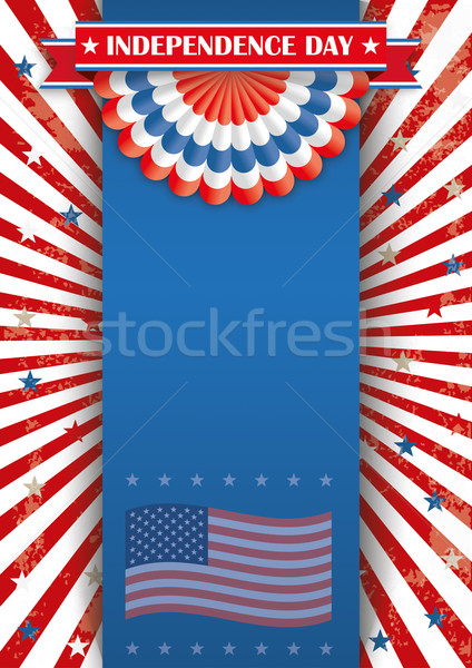 Independence Day Oblong Banner Bunting Stock photo © limbi007