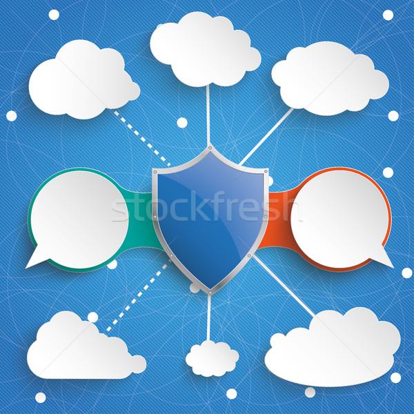 Infografika internet hálózatok kódolt kommunikáció terv Stock fotó © limbi007