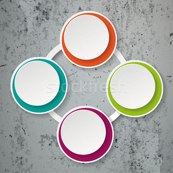 красочный бумаги Жизненный цикл конкретные прибыль на акцию Сток-фото © limbi007