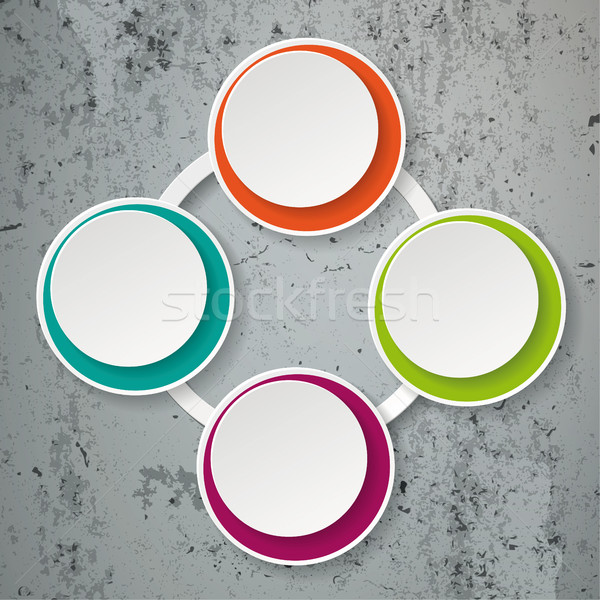 Renkli kâğıt yaşam döngüsü beton eps Stok fotoğraf © limbi007