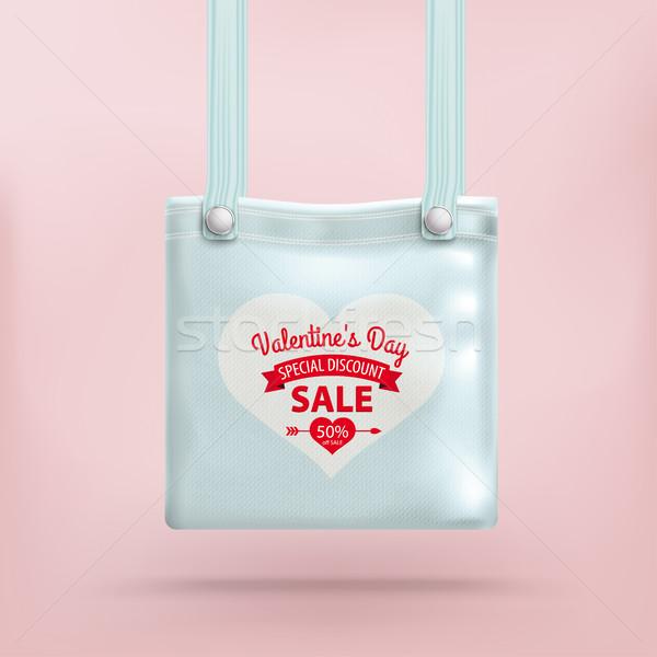 バレンタインデー 財布 袋 ピンク 中心 eps ストックフォト © limbi007