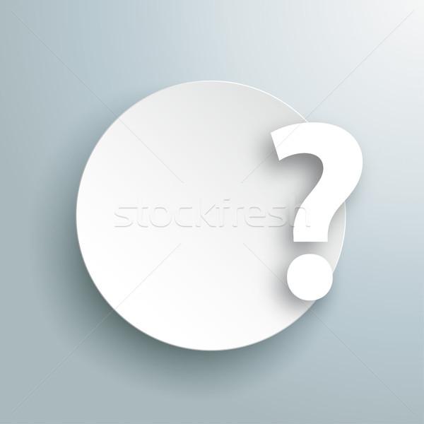 Paper Circle Question Gray Stock photo © limbi007